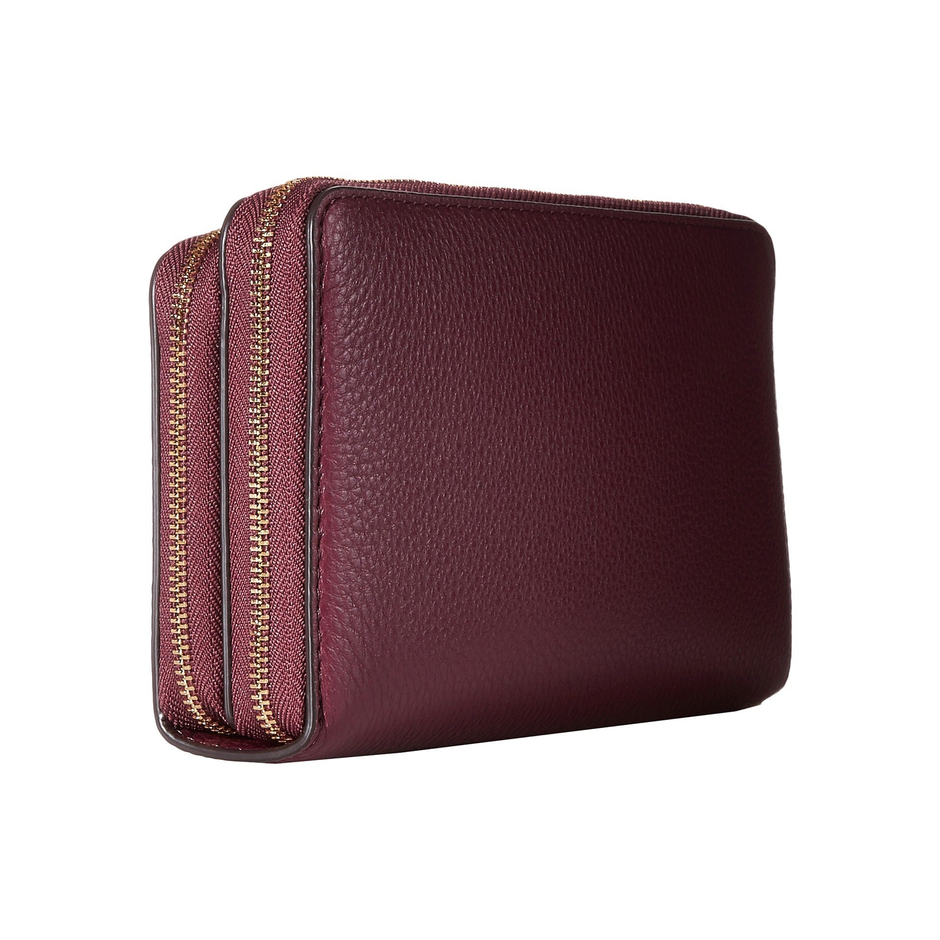 d1c6fda3ddb1 Shop Michael Kors Adele Plum Leather Double-zip Wallet - Free Shipping  Today - Overstock - 13344567