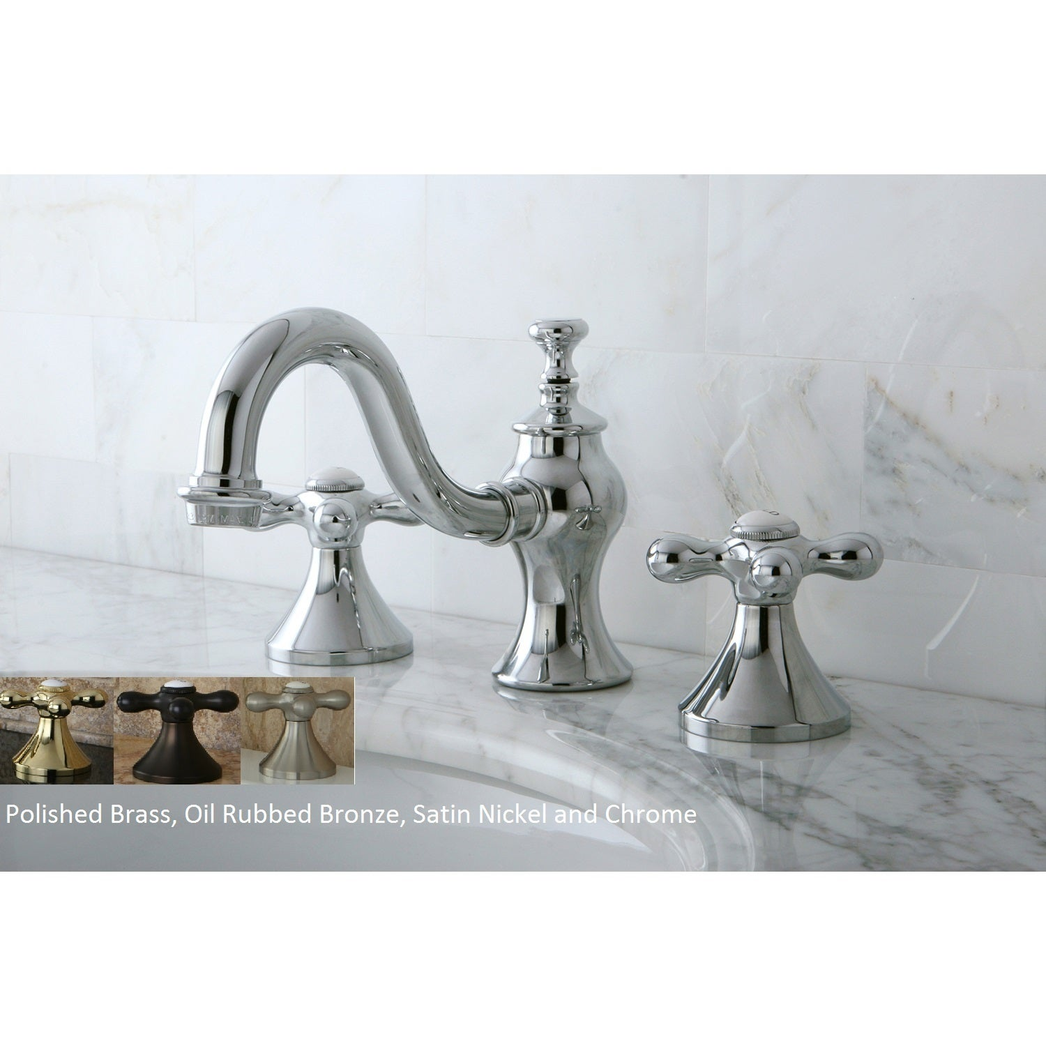 Victorian Cross Widespread Bathroom Faucet - Free Shipping Today ...