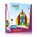 ShapeMags Assorted Colors 3D Magnetic Tiles with 2 Car Bases 120 pieces