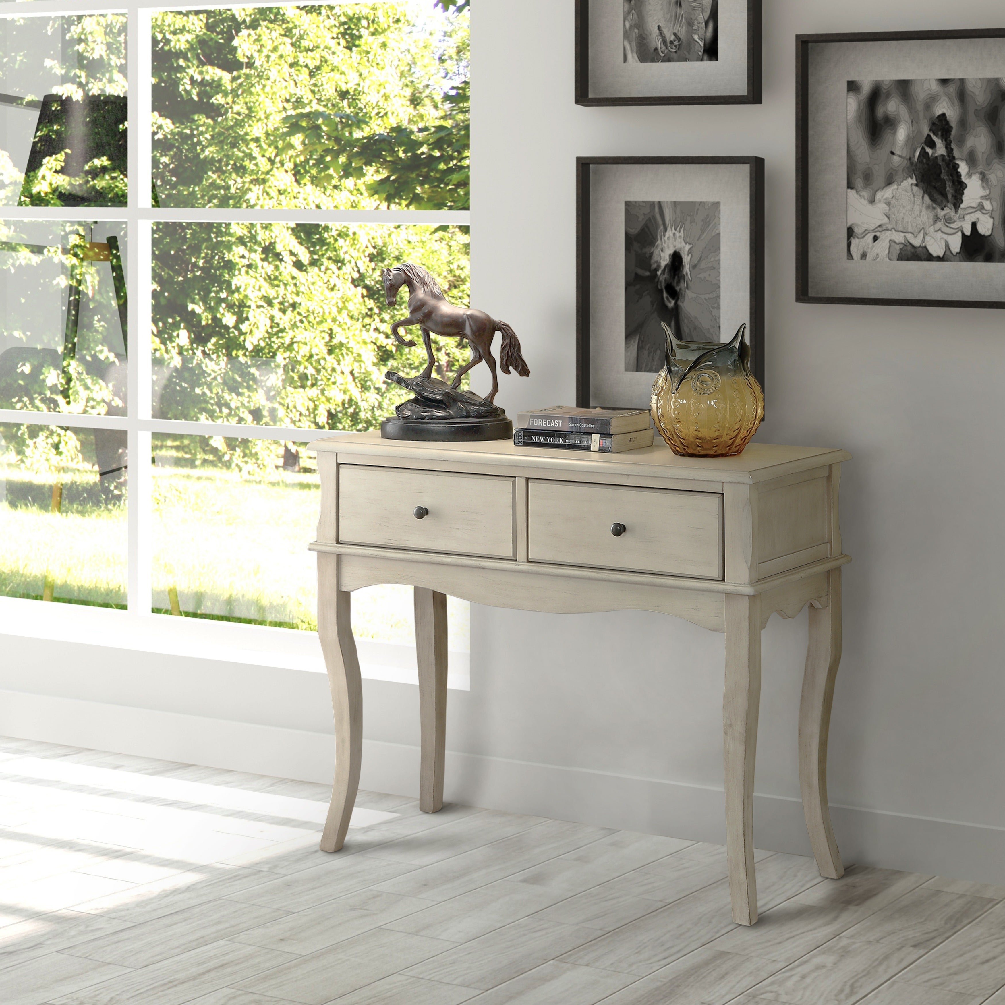 Shop Maison Rouge Daumal Vintage Style 2 Drawer Entryway Table   On Sale    Free Shipping Today   Overstock.com   20370470