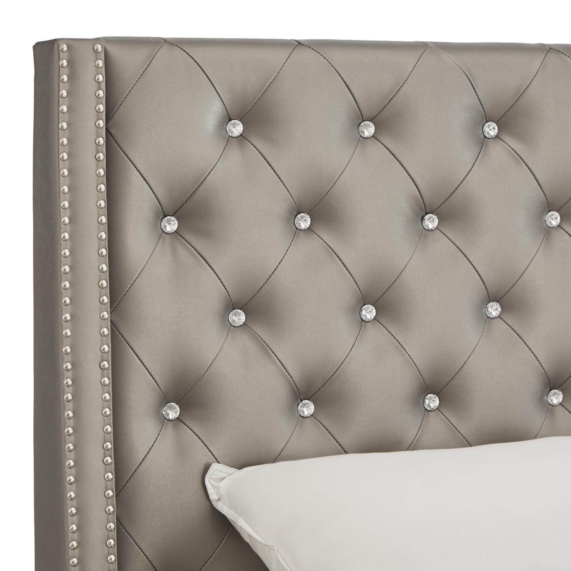 upholstered save tufted headboards gray headboard ll furniture grey panel corbett you love