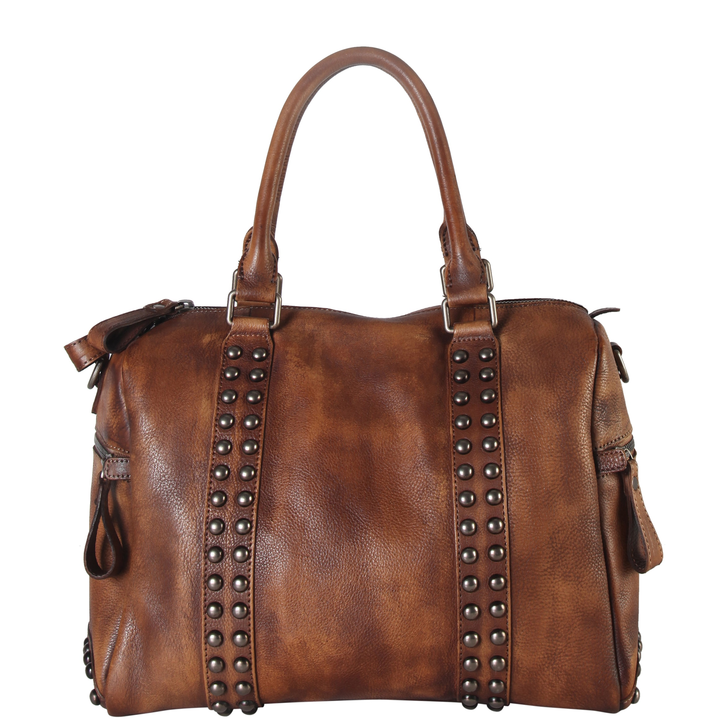 88447dc8e03b Diophy Genuine Leather Medium Studded Doctor-style Tote Bag