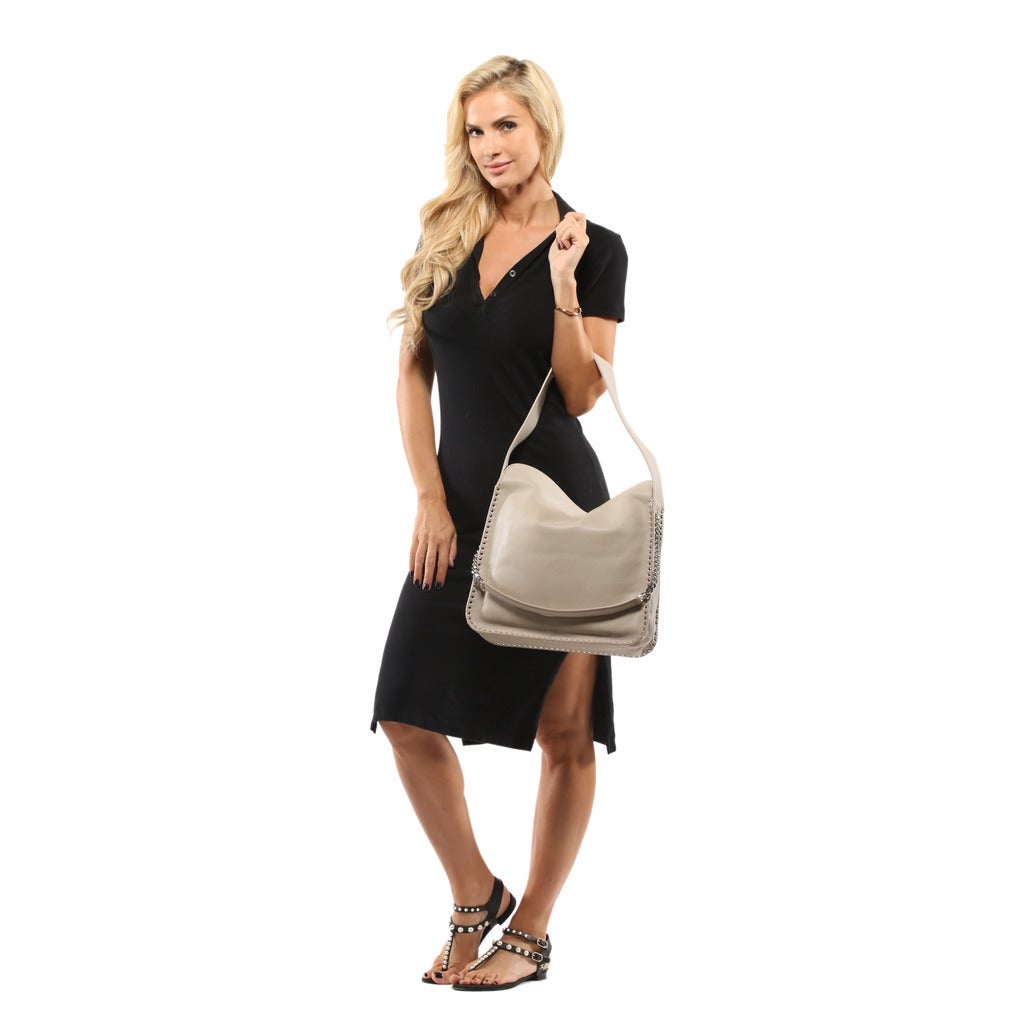 a2590c777342 Shop Michael Kors Astor Large Cement Leather Hobo Handbag - Free Shipping  Today - Overstock - 13372738