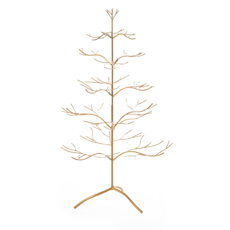 Gold Metal 36 Inch Ornament Tree