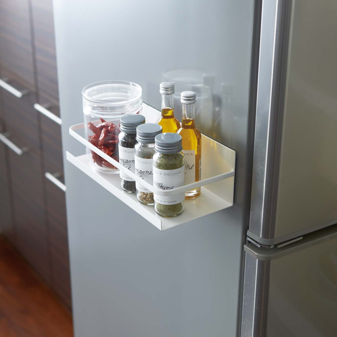 Shop White Plate Magnetic Spice Rack by Yamazaki Home - Free ...