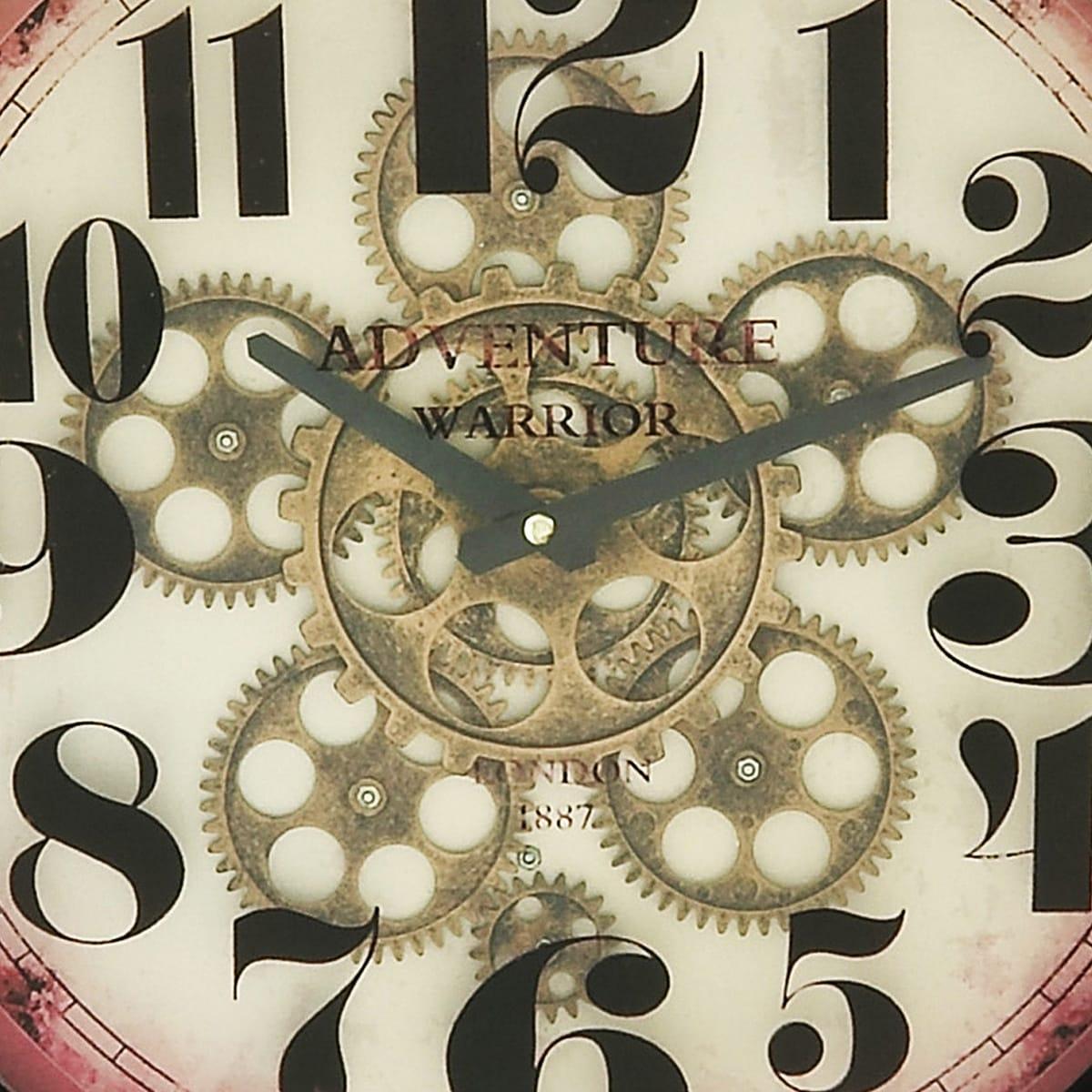 Adventure Warrior London 18Inch Industrial Gear Round Wall Clock
