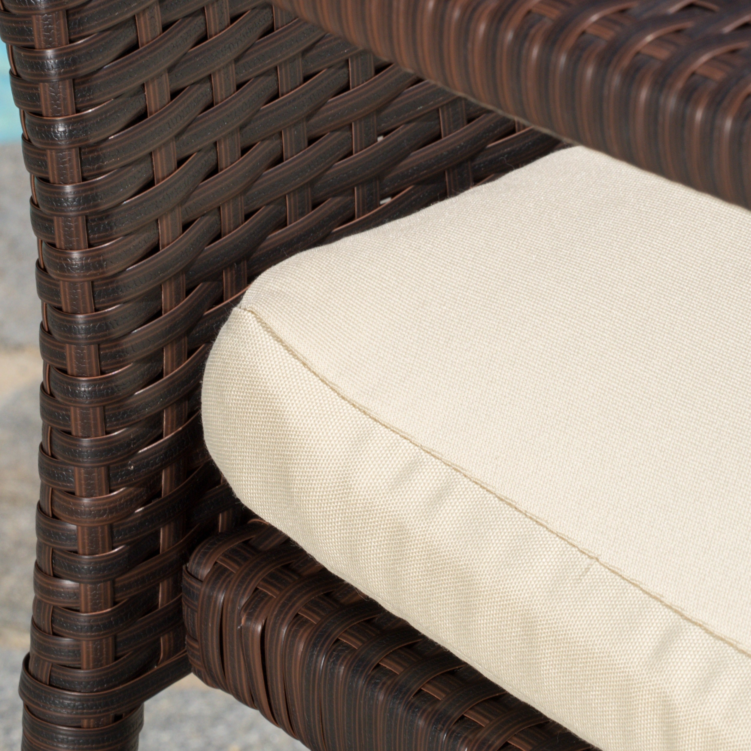 3-piece Outdoor Wicker Chat Set with Cushions by Christopher ...