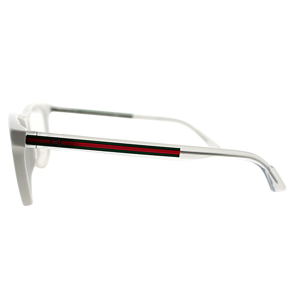 115670bf2 Shop Gucci GG 3725 O0Y White Plastic 54-millimeter Rectangle Eyeglasses -  Free Shipping Today - Overstock - 13382027