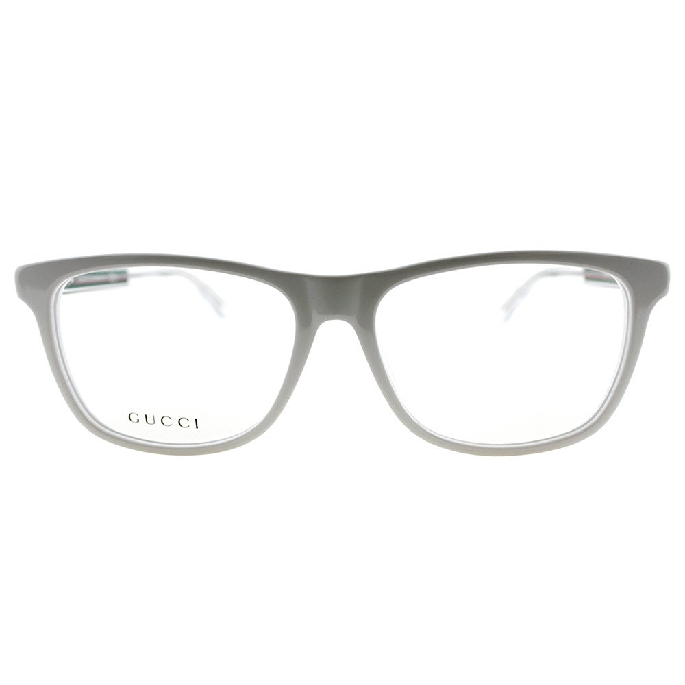 5af82ffa2d8 Shop Gucci GG 3725 O0Y White Plastic 54-millimeter Rectangle Eyeglasses -  Free Shipping Today - Overstock - 13382027