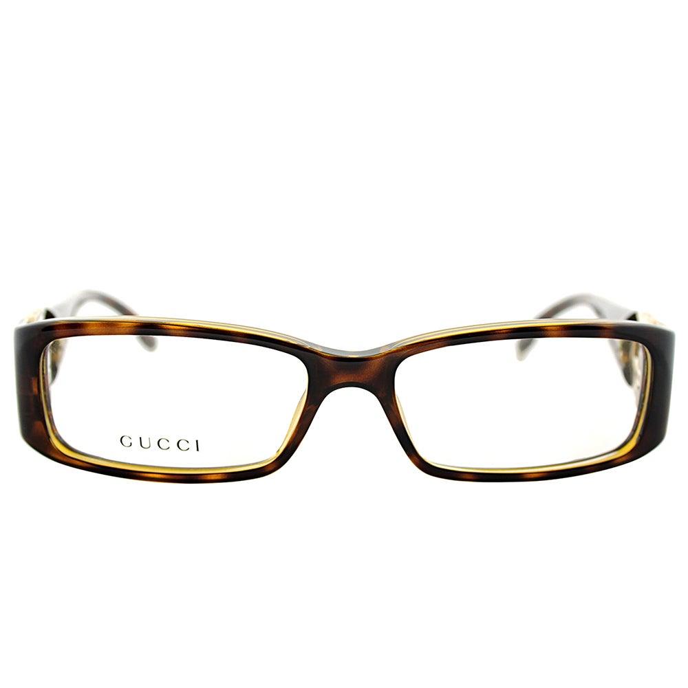 23263911ab07 Shop Gucci GG 3136 791/15 Havana Plastic 52mm Rectangular Eyeglasses - Free  Shipping Today - Overstock - 13384514