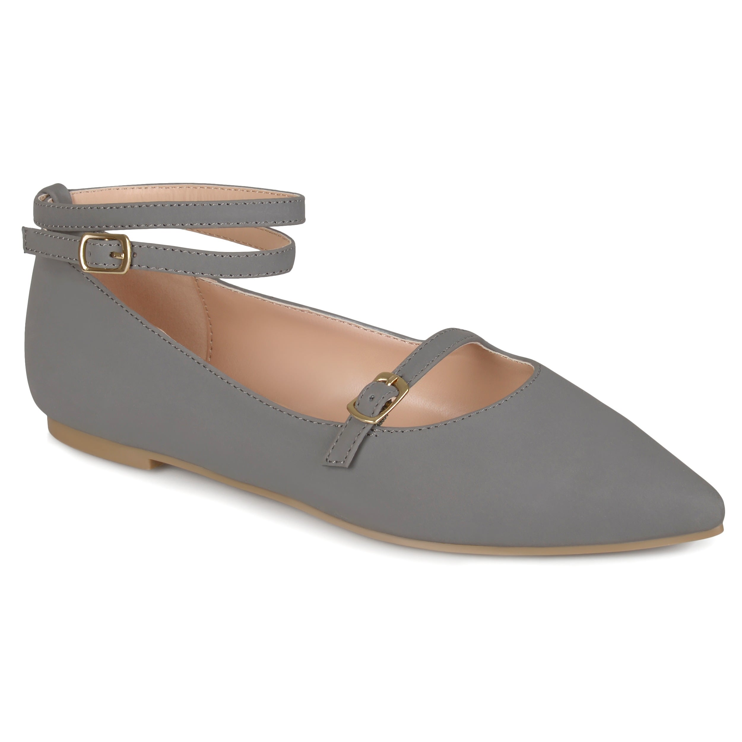 Journee Collection Nilly ... Women's Ankle Strap Flats hot sale online lSQIx