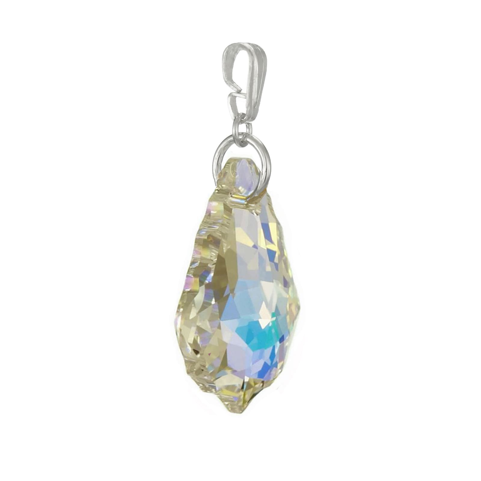 3d9e77353b9d Shop Handmade Jewelry by Dawn Aurora Borealis Swarovski Crystal Baroque  Sterling Silver Pendant (USA) - On Sale - Free Shipping On Orders Over  45  ...