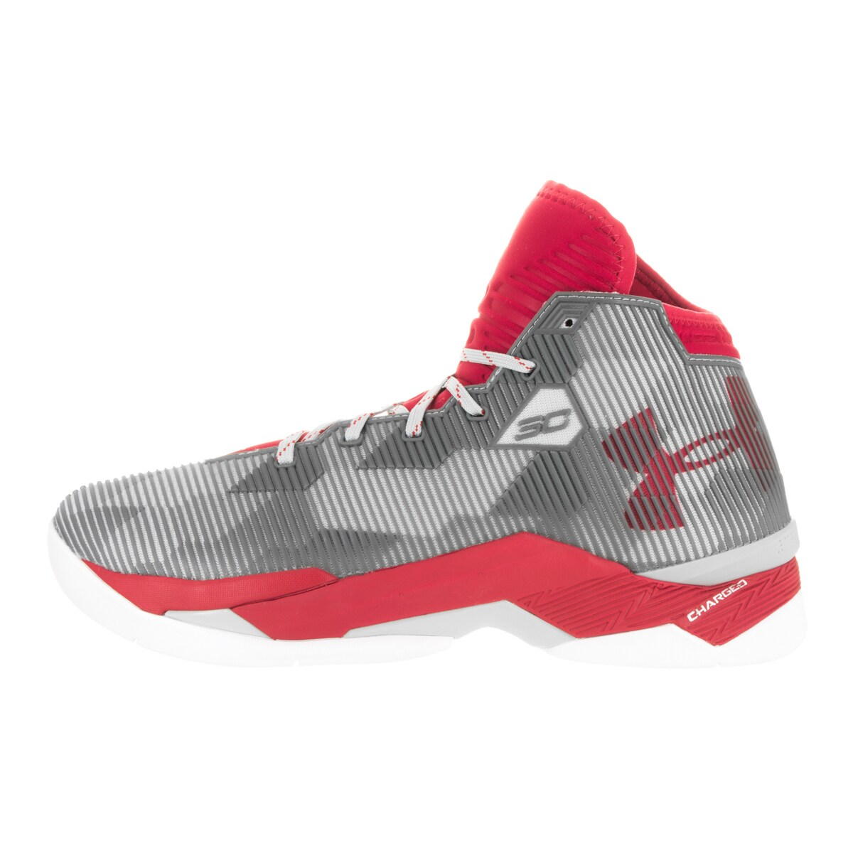 e88e4a529485 Shop Under Armour Men s Curry 2.5 Red Alu Red Basketball Shoe - Free  Shipping Today - Overstock - 13392188