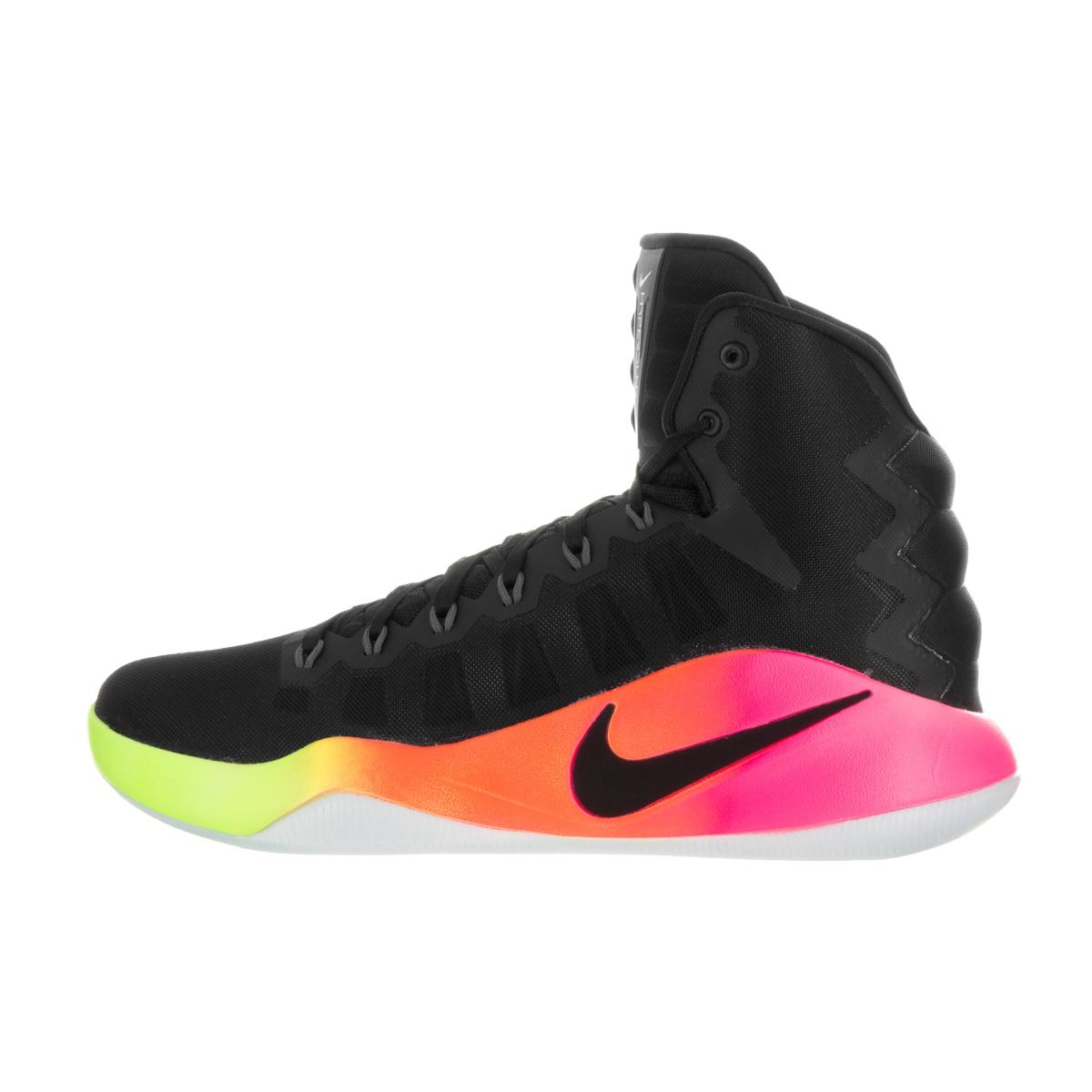 b4ee3535be1b Shop Nike Men s Hyperdunk 2016 Black Black Pink Blast Volt Basketball Shoe  - Free Shipping Today - Overstock - 13392233