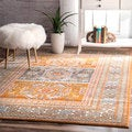 nuLOOM Bohemian Tribal Yellow Rug (8' x 10')