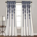 Lush Decor Stripe Medallion Room Darkening Window Curtain Panel Pair