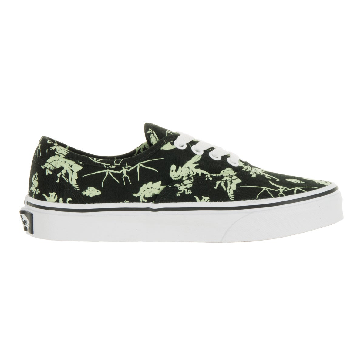 3bfcf0be56 Shop Vans Kids Authentic Dinosaur Black Glow In The Dark Skate Shoe - Free  Shipping On Orders Over  45 - Overstock - 13394039
