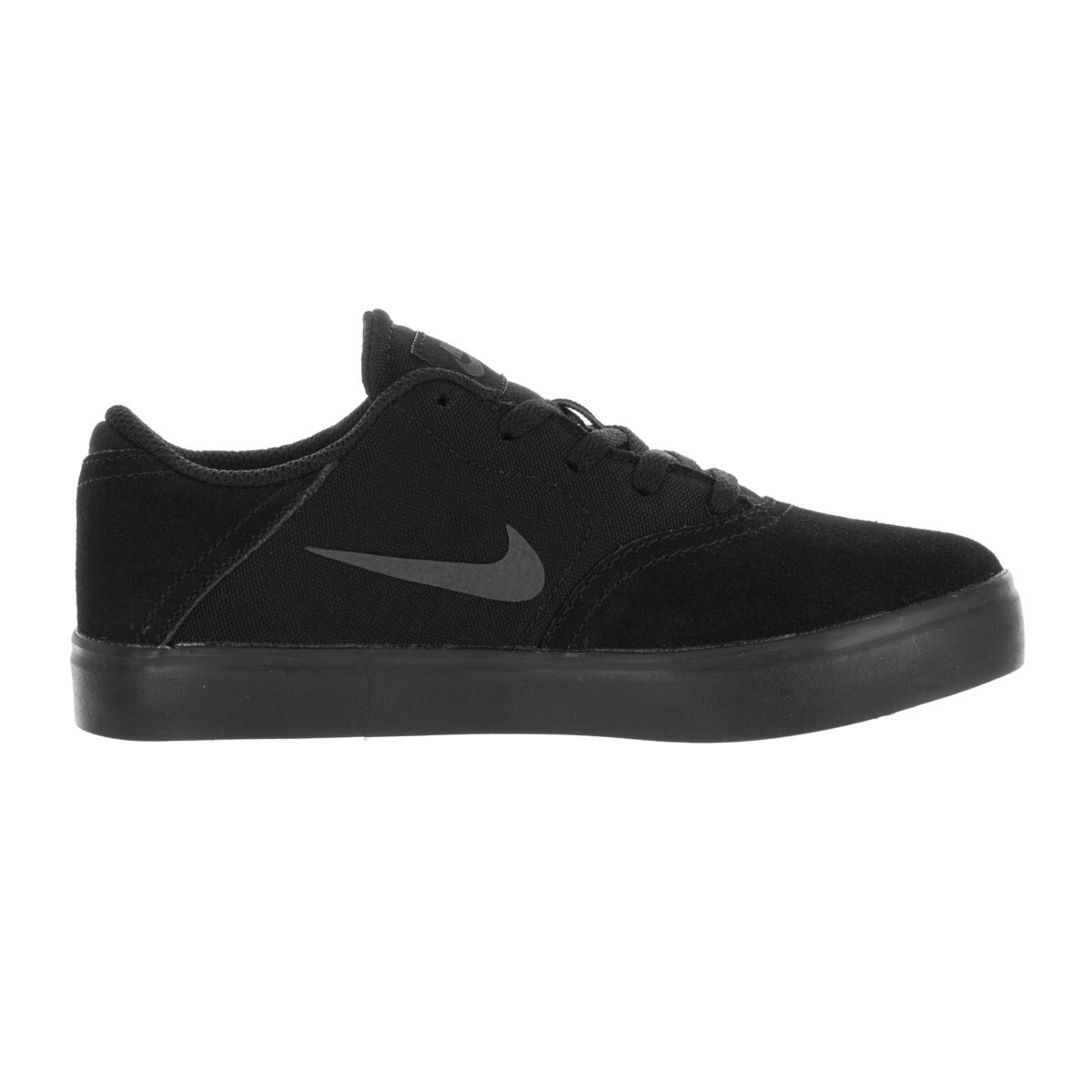 1caf21db359e60 Shop Nike Kids SB (PS) Check Black Anthracite Skate Shoe - Free Shipping  Today - Overstock.com - 13394083