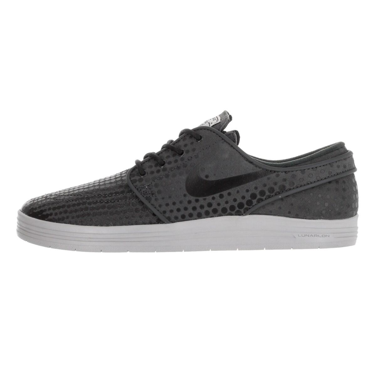 promo code 92472 facd8 Shop Nike Men s Lunar Stefan Janoski Anthracite Black Wolf Grey Skate Shoe  - Free Shipping Today - Overstock - 13394109
