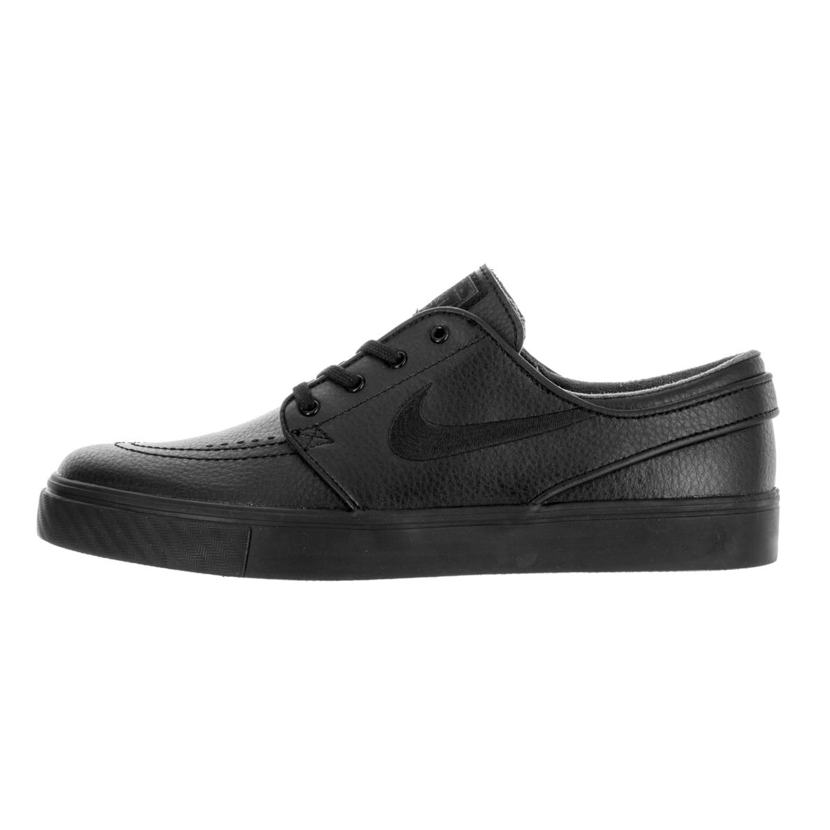 on sale 64216 768af Shop Nike Men s Zoom Stefan Janoski L Black Black Black Anthracite Skate  Shoe - Free Shipping Today - Overstock - 13394172