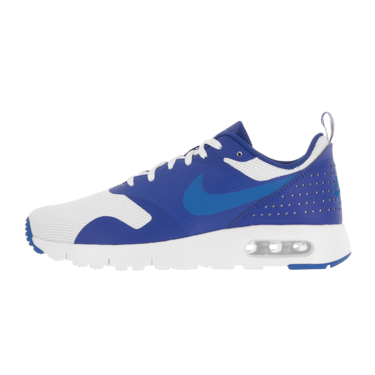 watch 887f8 63b5c Shop Nike Kids  Air Max Tavas (GS) White and Blue Plastic Running Shoes -  Free Shipping Today - Overstock - 13394257