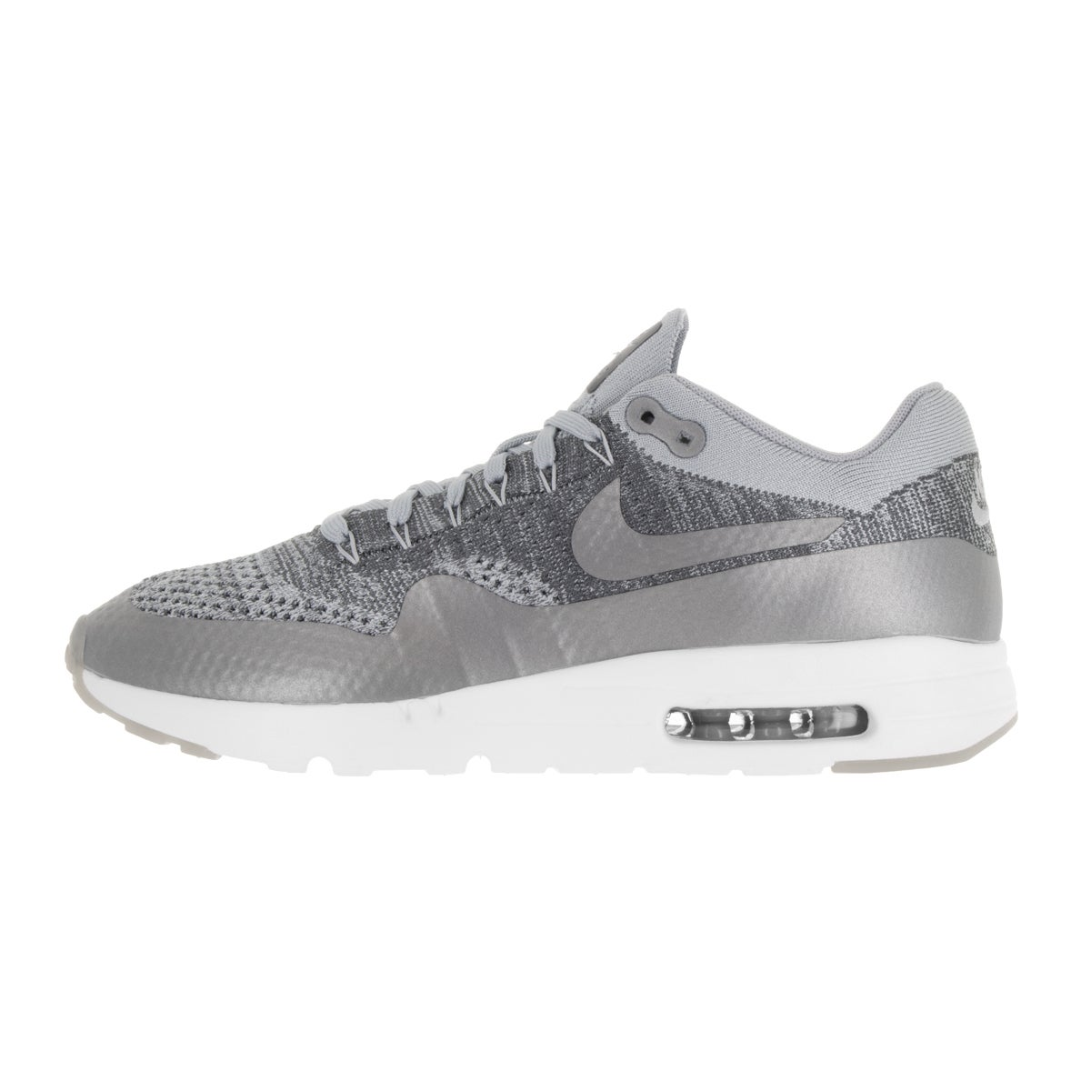 a1b1ea589cf Shop Nike Men s Air Max 1 Ultra Flyknit Wolf Grey Wlf Grey Drk Gry Wht  Running Shoe - Free Shipping Today - Overstock - 13394395