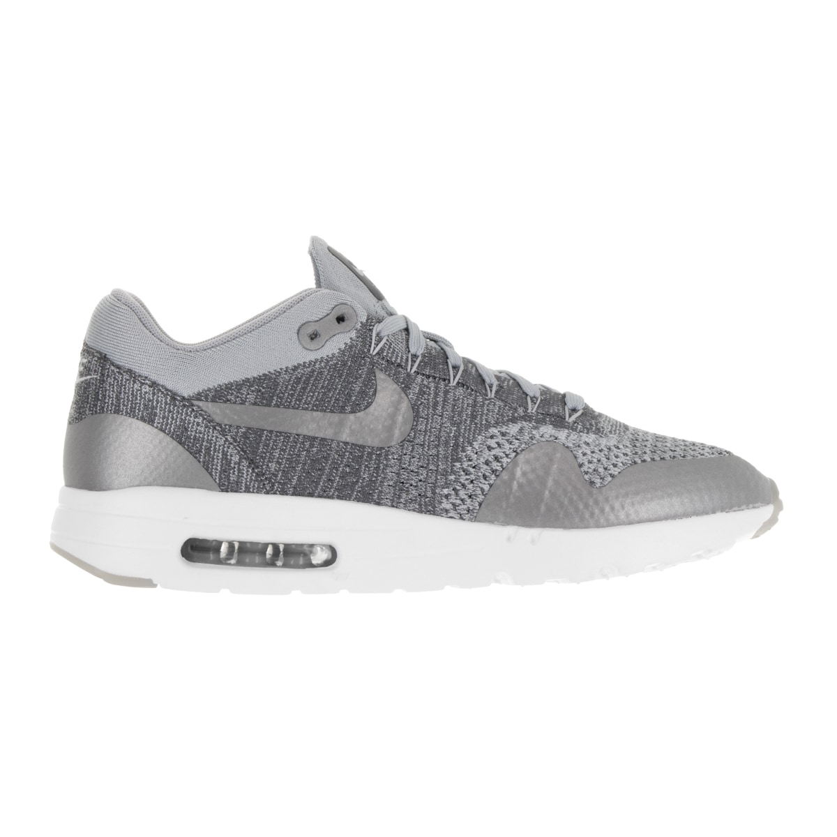 reputable site a695e 29b67 Shop Nike Men s Air Max 1 Ultra Flyknit Wolf Grey Wlf Grey Drk Gry Wht  Running Shoe - Free Shipping Today - Overstock - 13394395