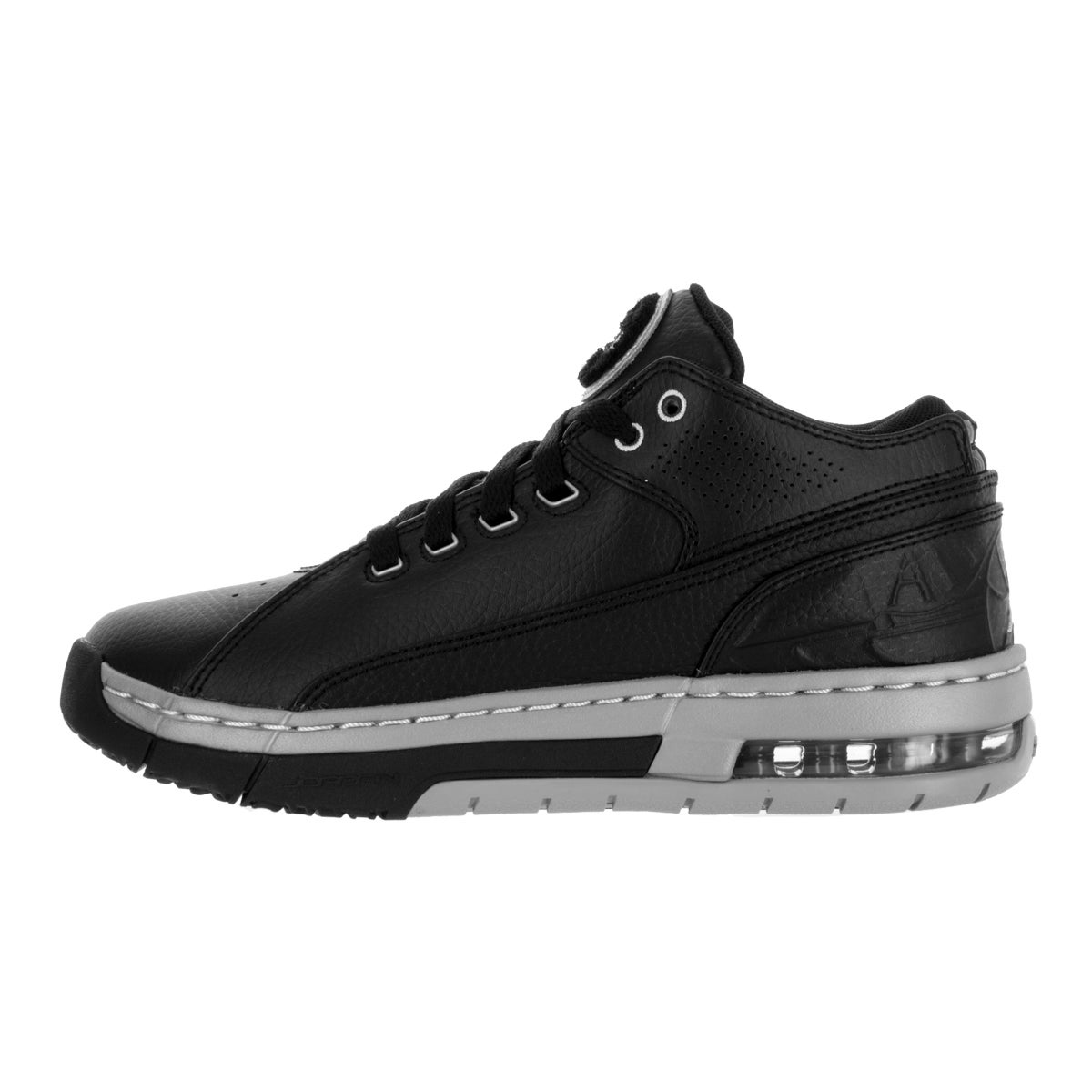 089c0748acf92e Shop Nike Jordan Kids  Jordan Ol School Low Black and Silver Synthetic  Leather Basketball Shoes - Free Shipping Today - Overstock - 13394426