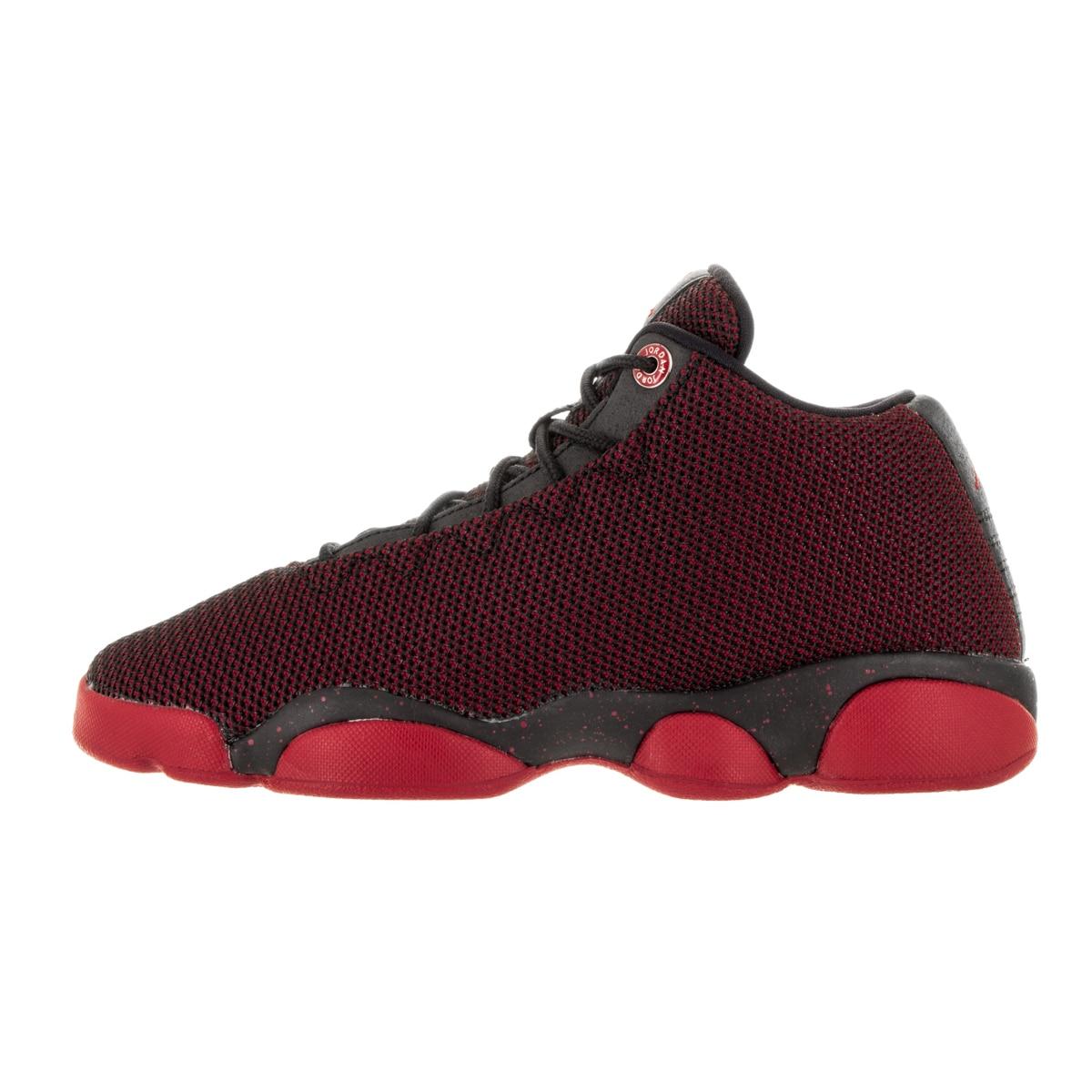 5d95549ecabf21 Shop Nike Kids Jordan Horizon Low Black Gym Red White Textile Basketball  Shoes - Free Shipping Today - Overstock - 13394435