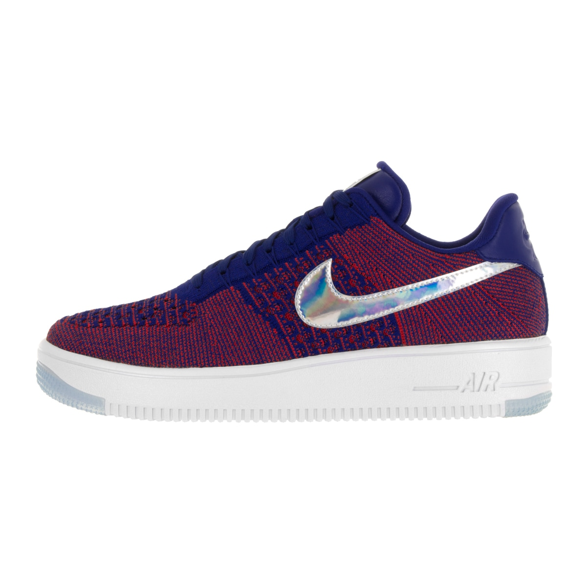 b9d15311b40a Shop Nike Men s AF1 Ultra Flyknit Low Prm Gym Red Deep Royal Blue White  Basketball Shoe - Free Shipping Today - Overstock - 13394669