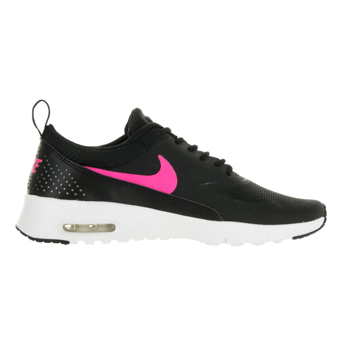 ba33ae7b31 Shop Nike Kids' Air Max Thea Black, Hyper Pink, and White Mesh Running Shoes  - Free Shipping Today - Overstock - 13394683