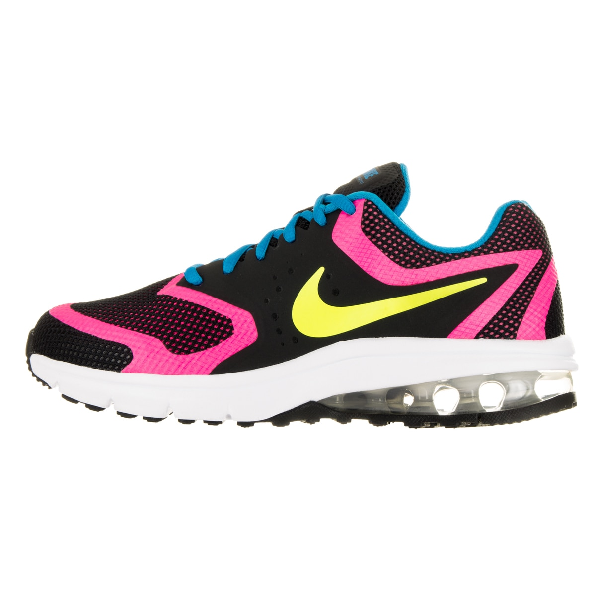 77120c557cf9 Shop Nike Kids Air Max Premiere Run (GS) Black Volt Pink Pow Photo Blue  Running Shoe - Free Shipping Today - Overstock - 13394691