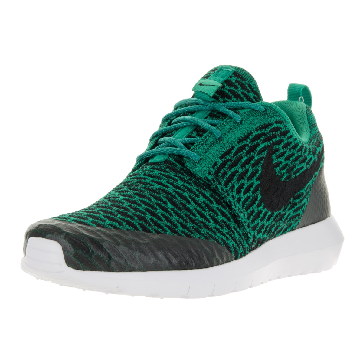los angeles d66d5 ac24f Shop Nike Men s Roshe NM Flyknit SE Lucid Green Black White Running Shoe -  Free Shipping Today - Overstock - 13394785