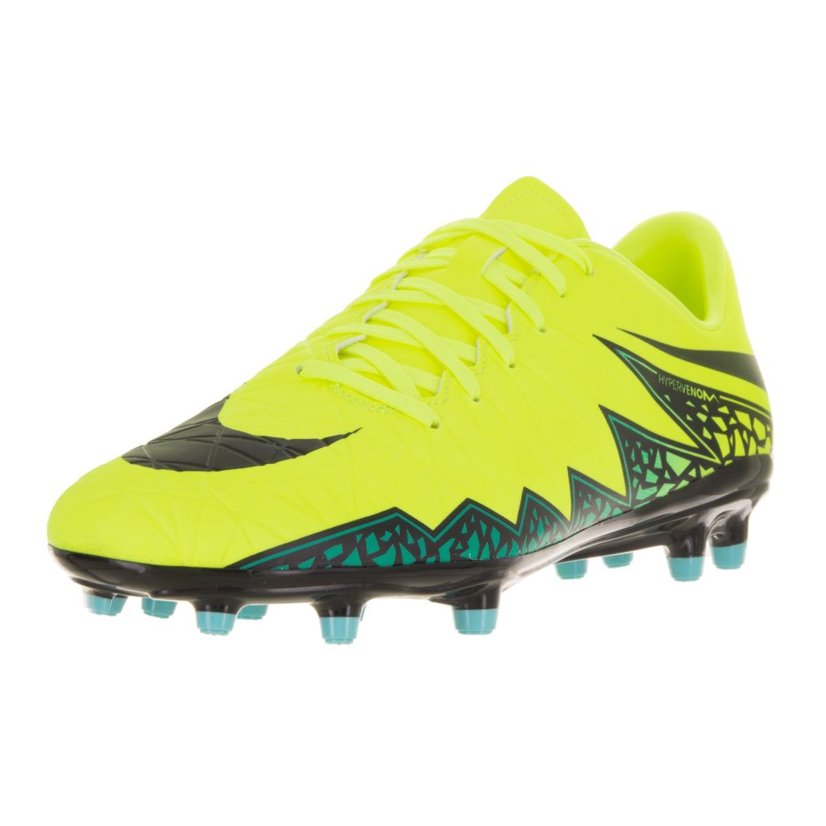 55c908087a1 Shop Nike Men s Hypervenom Phelon II FG Volt Black Hyper Turq Clr Jade Soccer  Cleat - Free Shipping Today - Overstock - 13394877