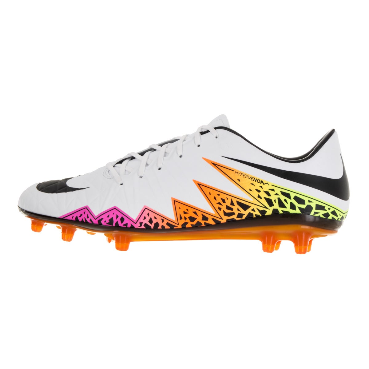 94525bc7521 Shop Nike Men s Hypervenom Phatal II Fg White Black Total Orange Volt Soccer  Cleat - Free Shipping Today - Overstock - 13394883