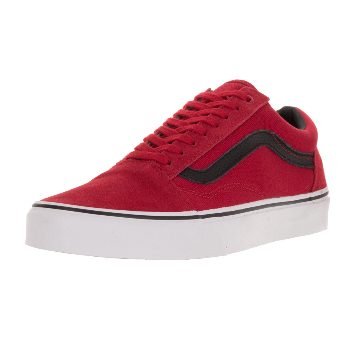 541d1a85c3b Shop Vans Unisex Old Skool (CandP) Racing Red Black Skate Shoe - Free  Shipping Today - Overstock - 13394980