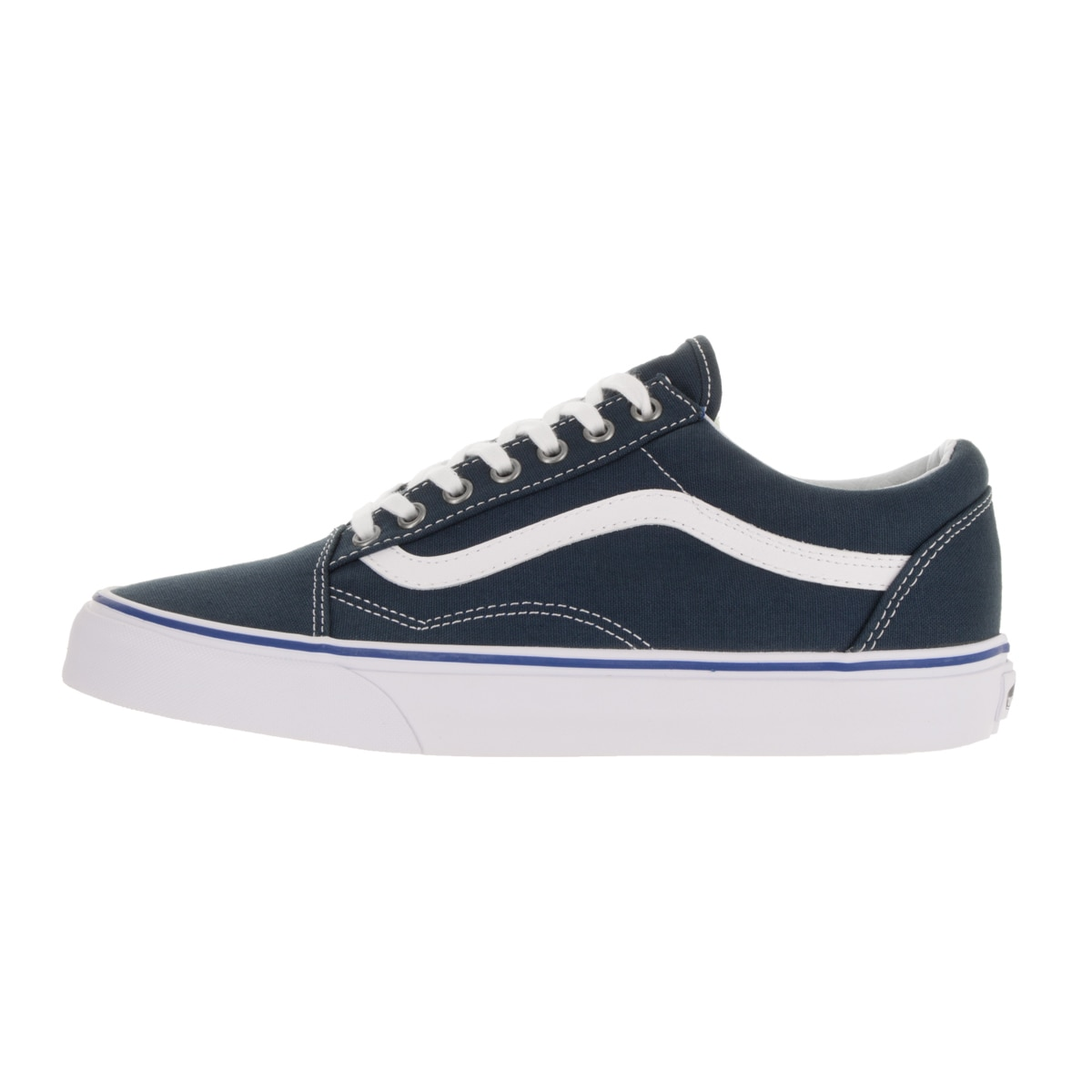 10d1f5b64047 Shop Vans Unisex Old Skool Midnight Navy True White Skate Shoe - Free  Shipping Today - Overstock - 13394982