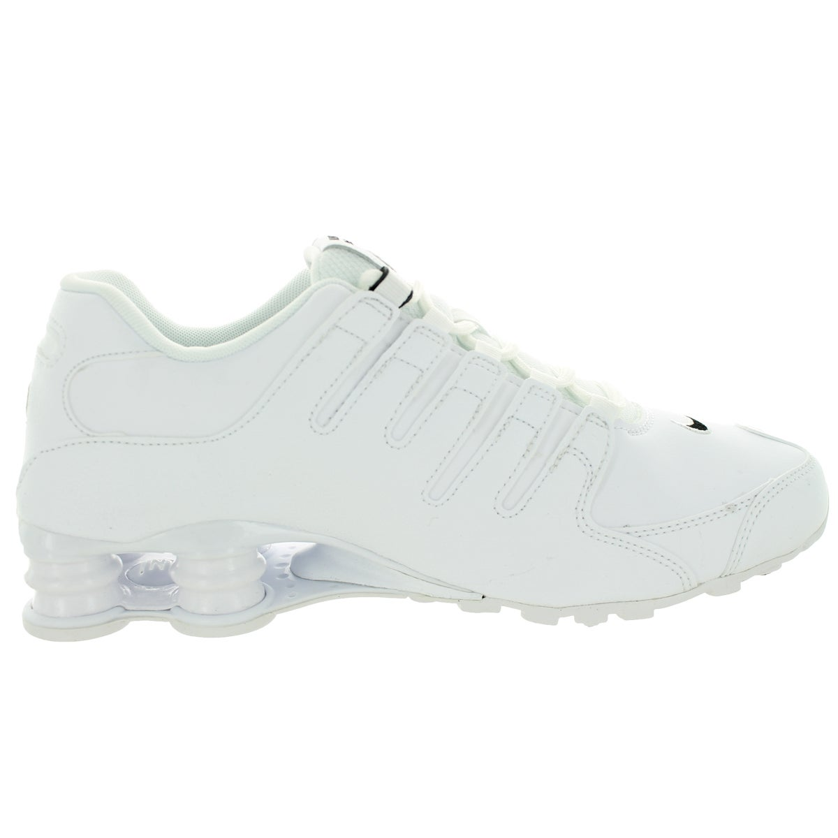 108a8766970e Shop Nike Men s Shox NZ EU Black and White Leather Size 11.5 Running Shoes  - Free Shipping Today - Overstock.com - 13395209