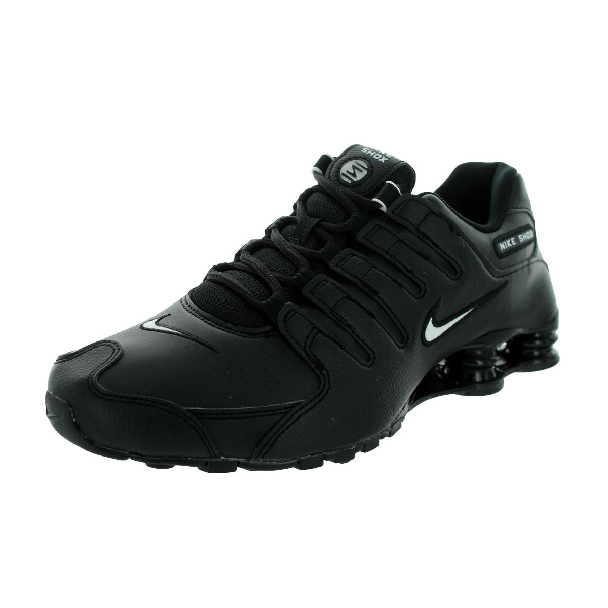 info for c06bc d1bbb Shop Nike Men s Shox NZ EU Black, White, Black Leather Running Shoes Size  8.5 - Free Shipping Today - Overstock - 13395210