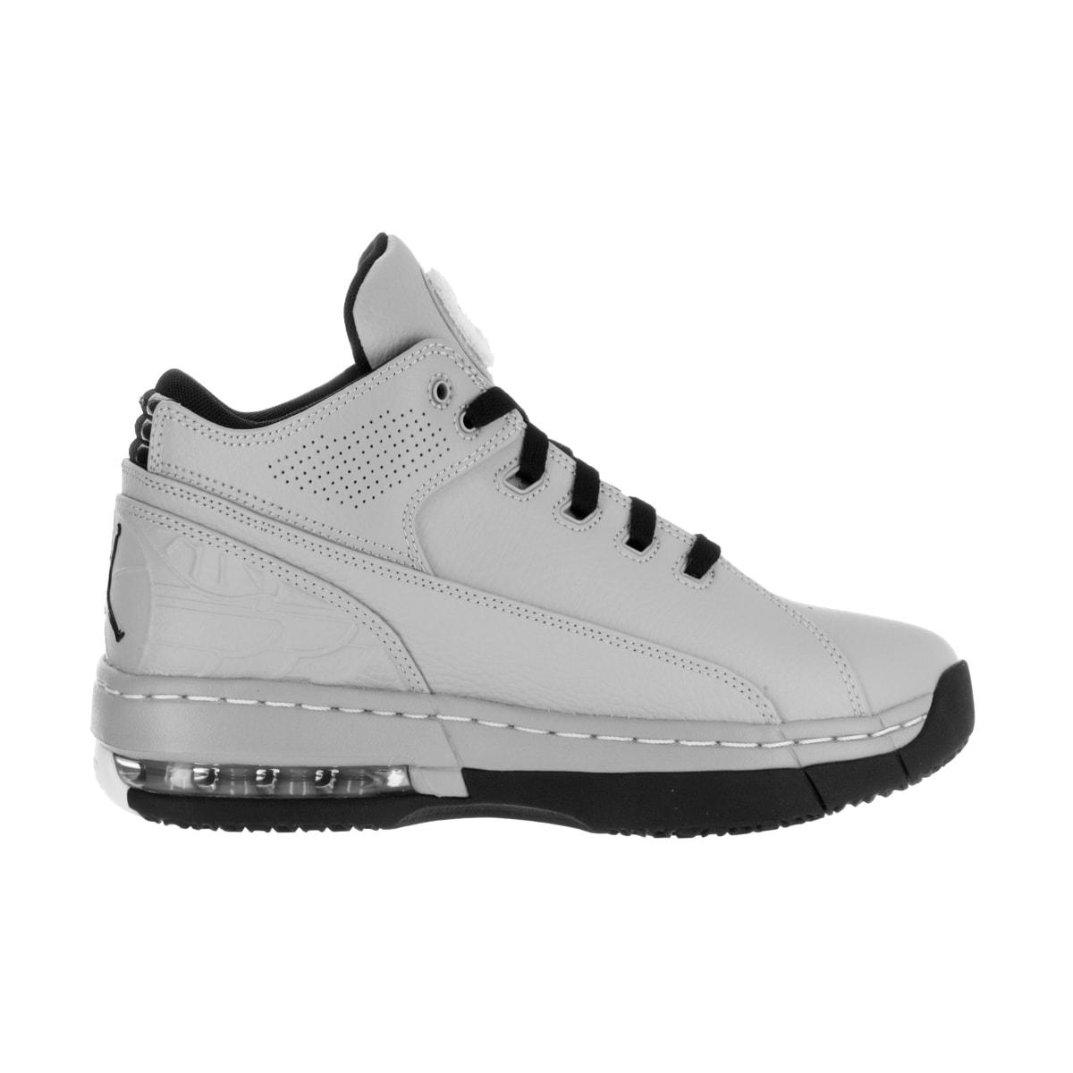 9b2e77903f25 Shop Nike Jordan Men s Jordan Ol School Low Wolf Grey Black White Basketball  Shoe - Free Shipping Today - Overstock - 13395488