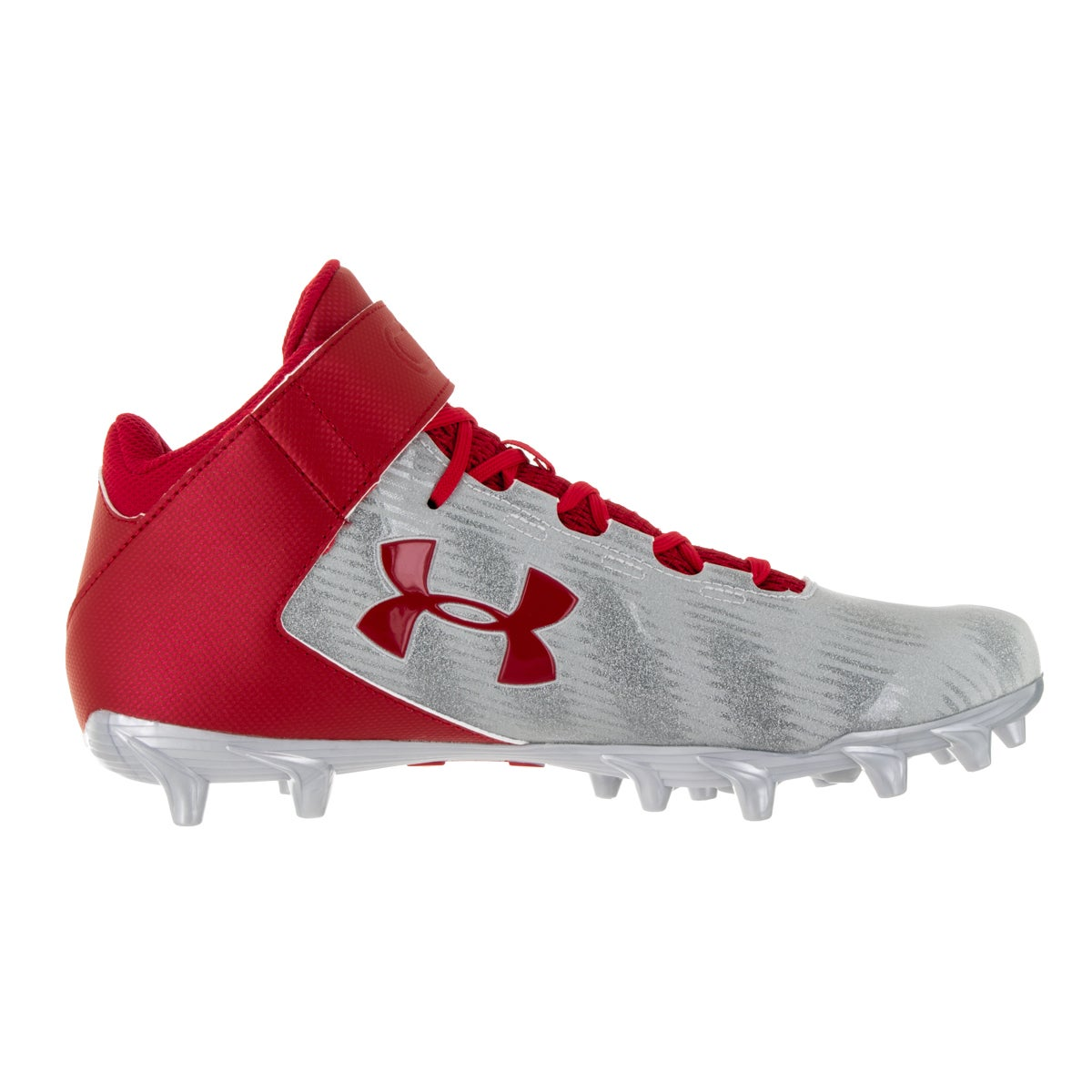 981f16d11aa9 Shop Under Armour Men s UA C1N Mid MC Red Msv Football Cleat - Free  Shipping Today - Overstock - 13395578