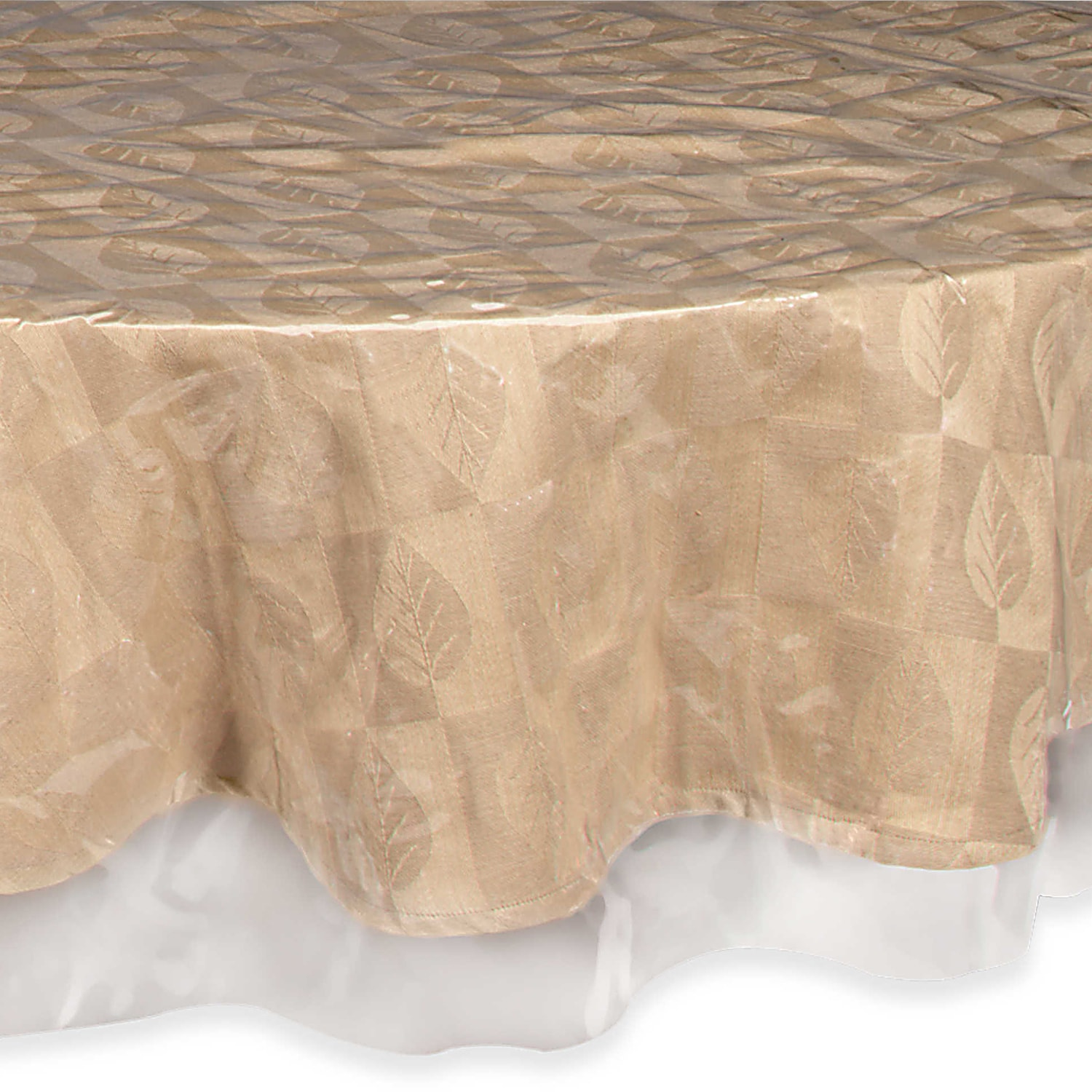Easy Care Super Clear Vinyl Tablecloth Protector   Free Shipping On Orders  Over $45   Overstock   20097362