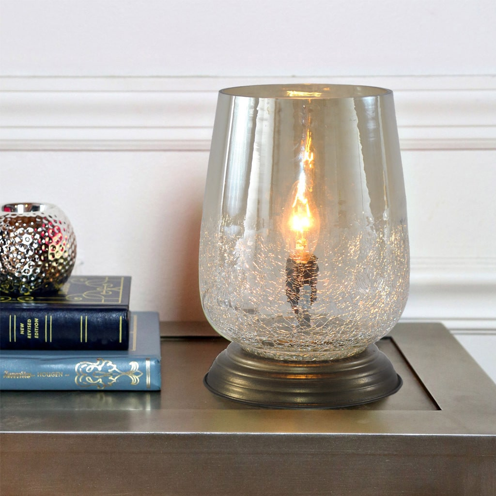 Shop river of goods metallic smoke crackled glass 79 inch handblown shop river of goods metallic smoke crackled glass 79 inch handblown accent table lamp free shipping today overstock 13402218 aloadofball Choice Image