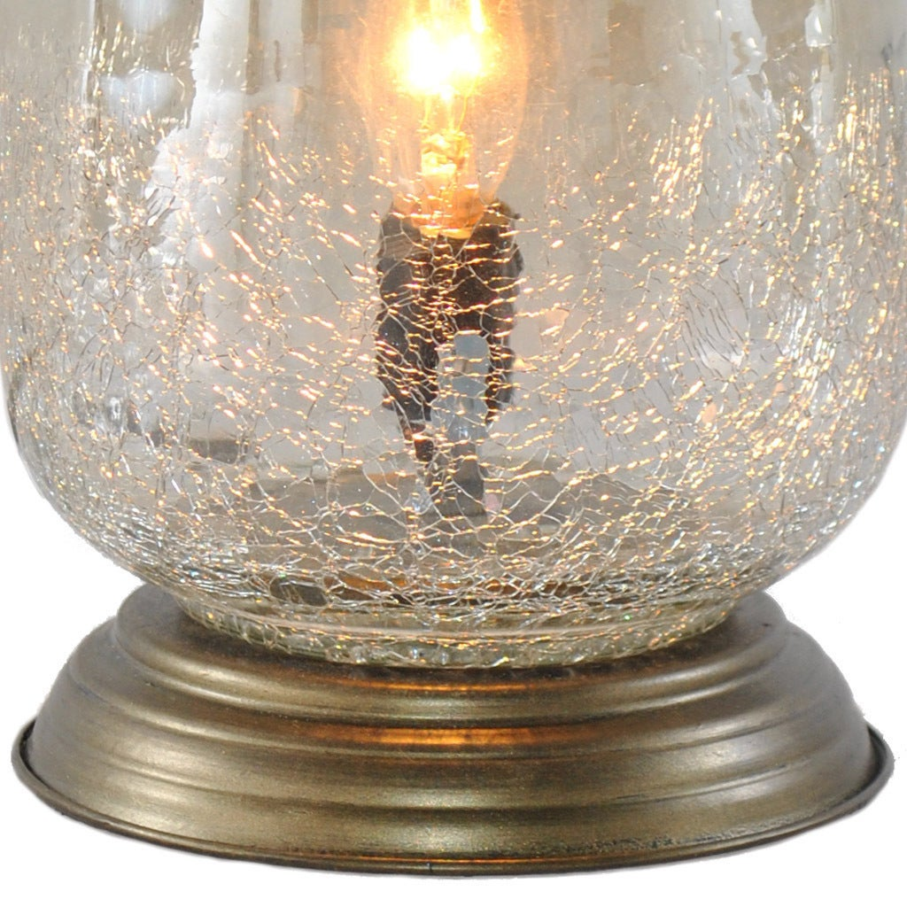 Shop River Of Goods Metallic Smoke Crackled Glass 7.9 Inch Handblown Accent Table  Lamp   On Sale   Free Shipping On Orders Over $45   Overstock.com   ...