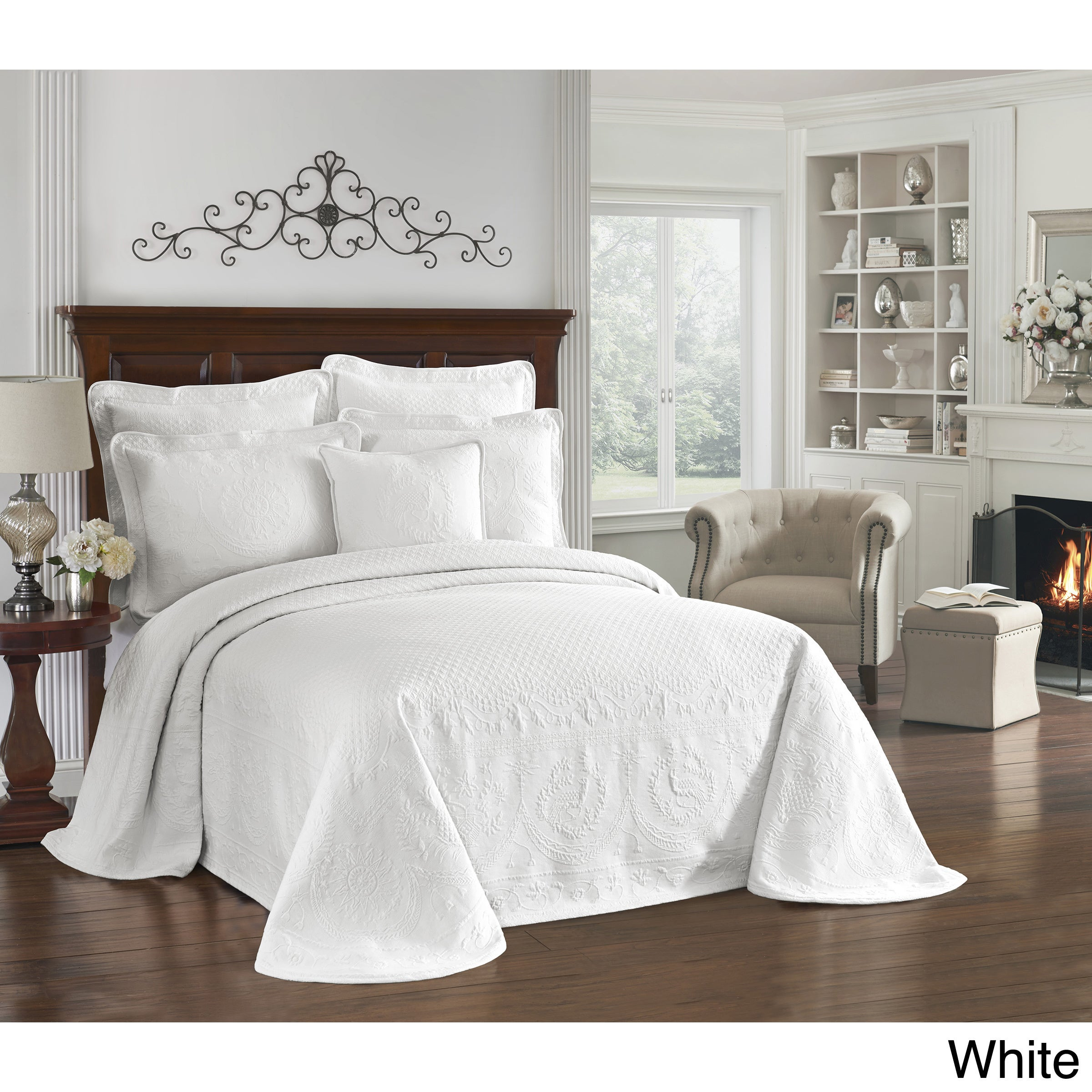 bedding p bedspread cotton woven americana matelasse bed