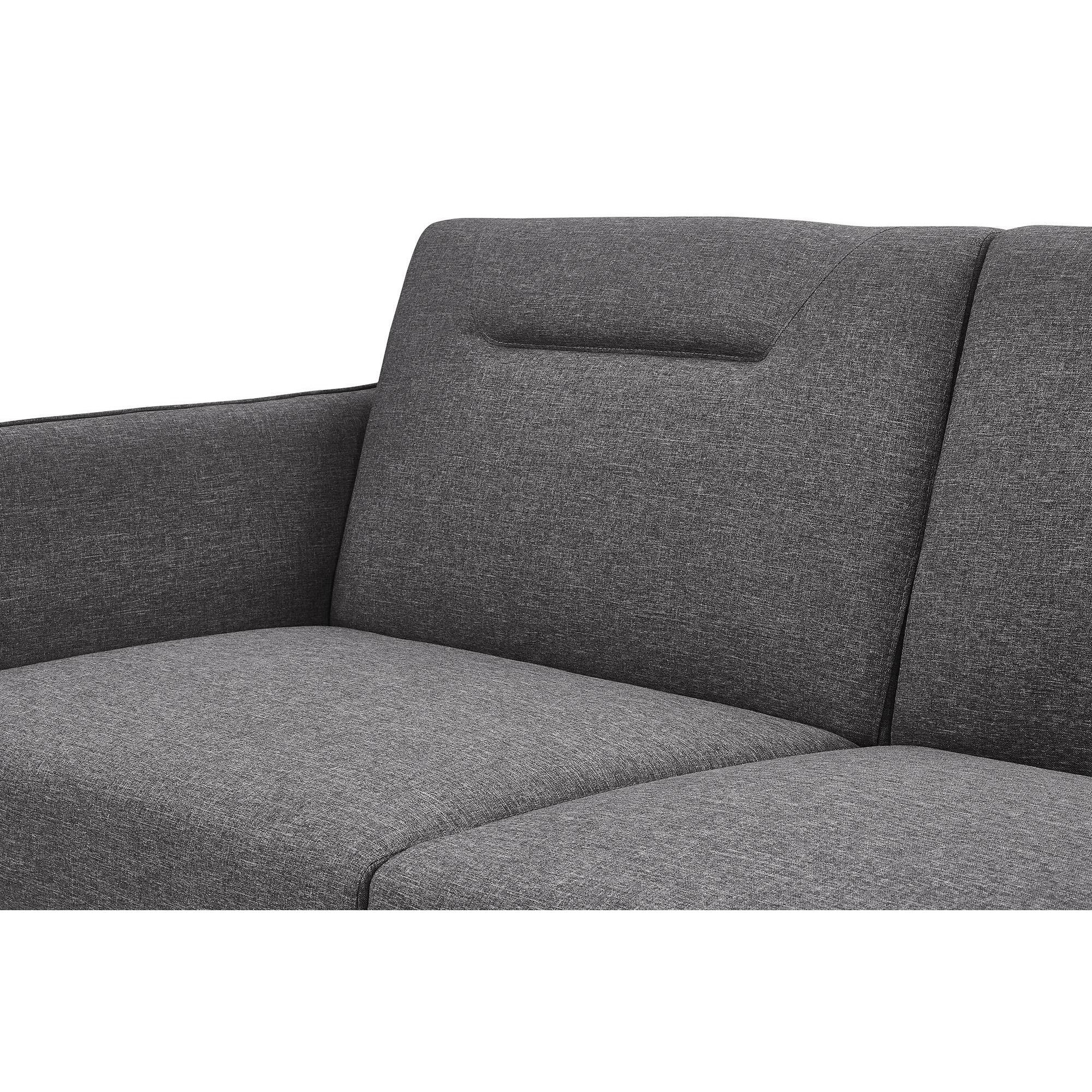 DHP Brent Linen Futon & Chaise Free Shipping Today Overstock