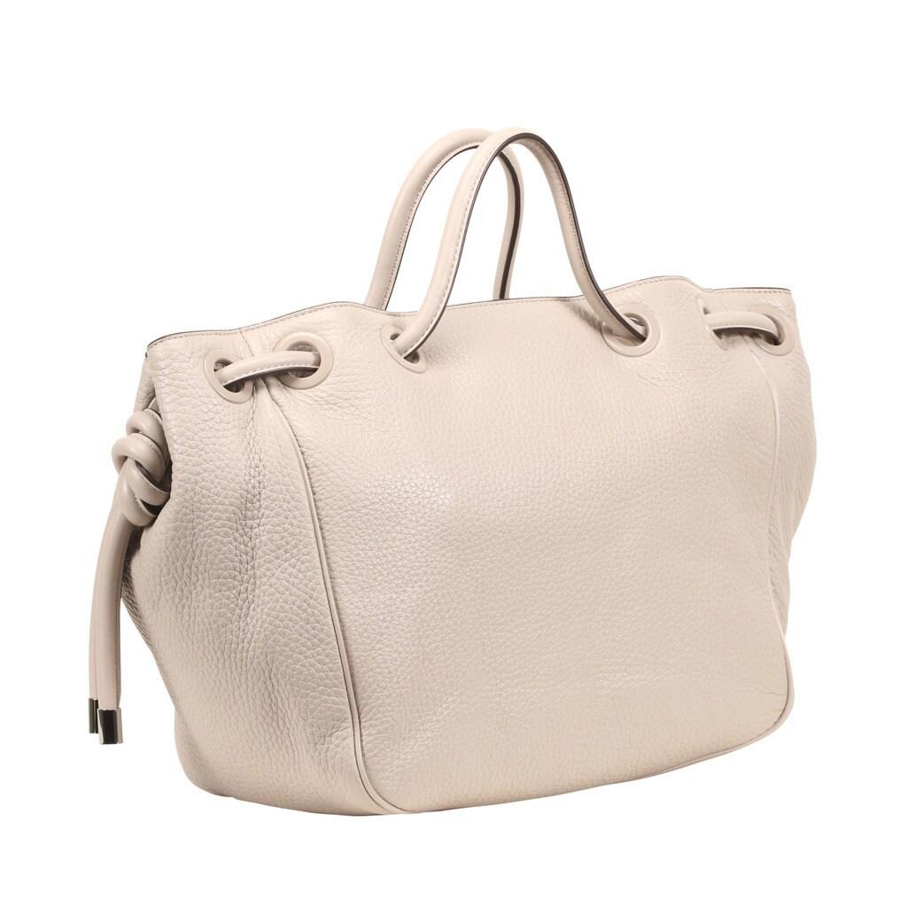 74dd14194288 Shop Michael Kors Dalia Large Cement Leather Satchel Handbag - Free  Shipping Today - Overstock - 13404420