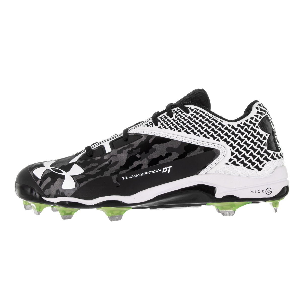 fa1a8f147dfd Shop Under Armour Men's UA Deception Low Black Fabric Baseball Cleat - Free  Shipping Today - Overstock - 13404569