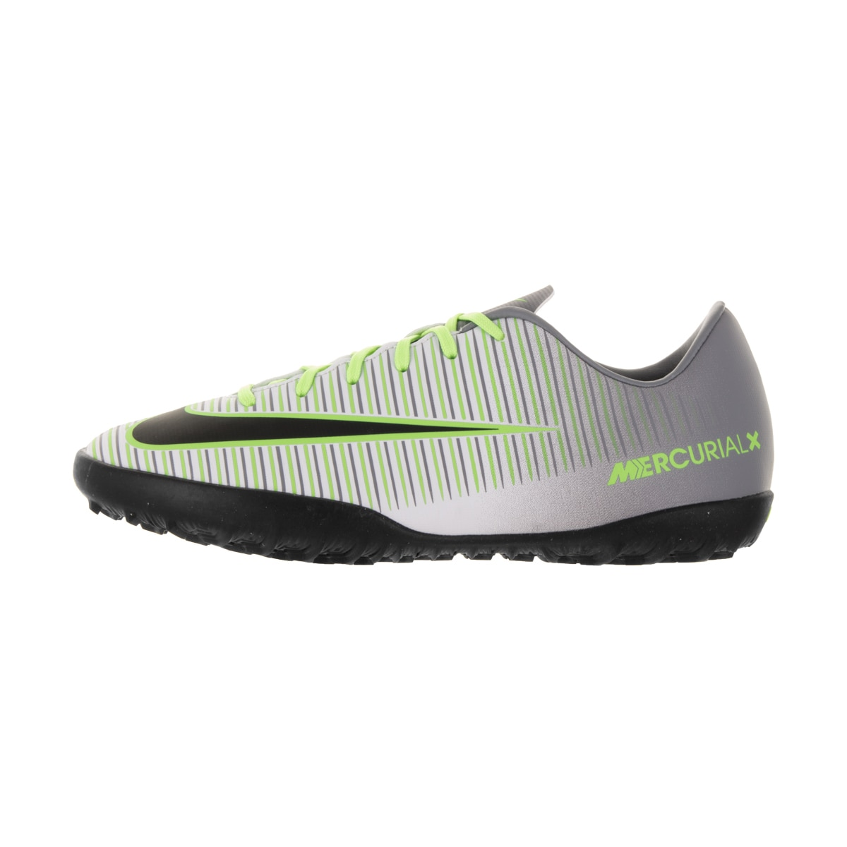 the latest b91be 35c61 Shop Nike Kids  Jr Mercurial Vapor XI Pure Platinum, Black, Ghost Green,  and Clear Jade Synthetic Turf Soccer Shoes - Free Shipping Today -  Overstock.com - ...