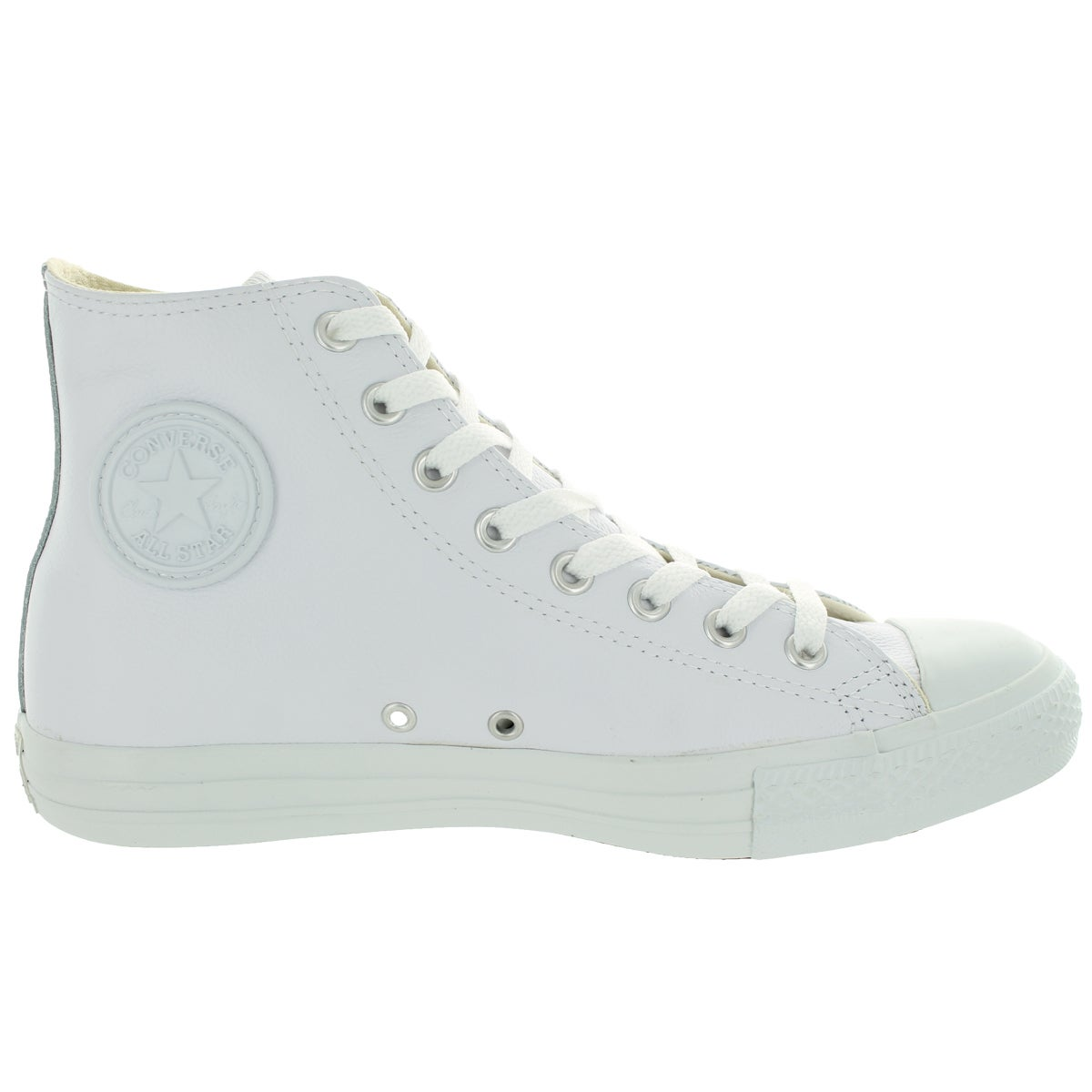 800063d7343c4b Shop Converse Men s All Star Chuck Taylor Leather Hi White Basketball Shoe  - Free Shipping Today - Overstock - 13404646